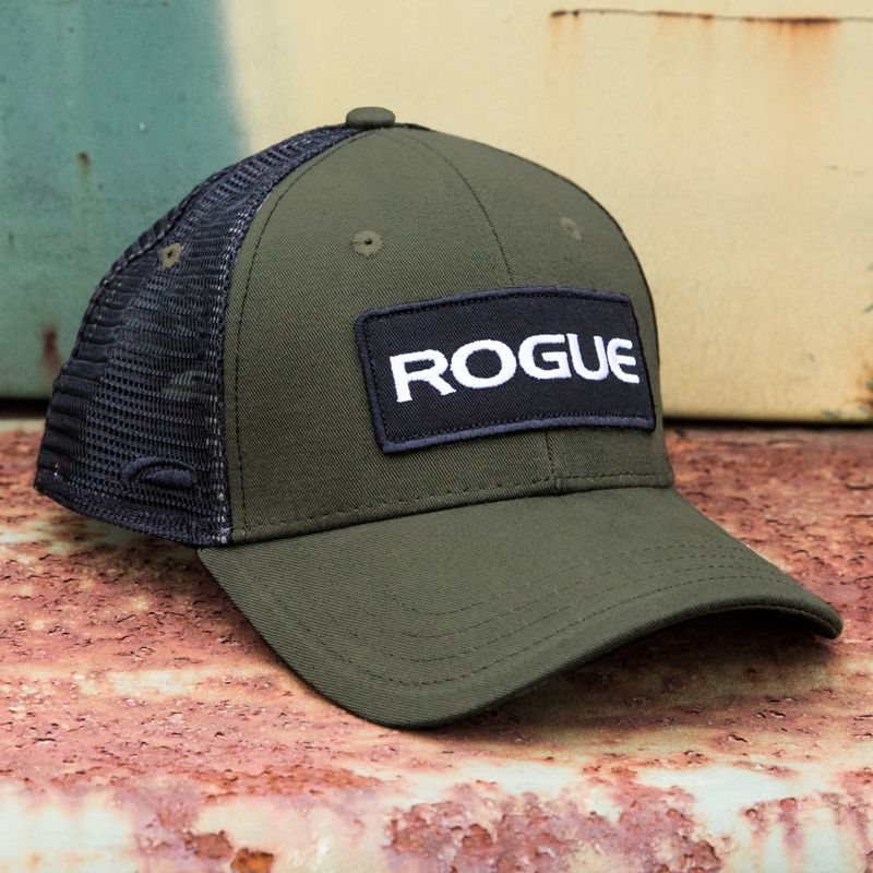 bc649f27284 Classic Rogue trucker hat with Rogue Patch logo. One size fits all. Get  more details or order your Rogue hat at RogueFitness.com.