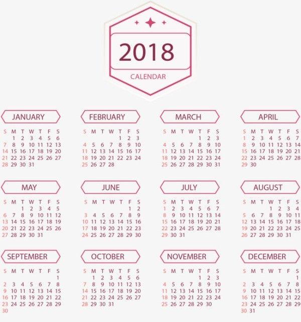 87+ Fascinating 2018 Printable Calendar Templates Printable