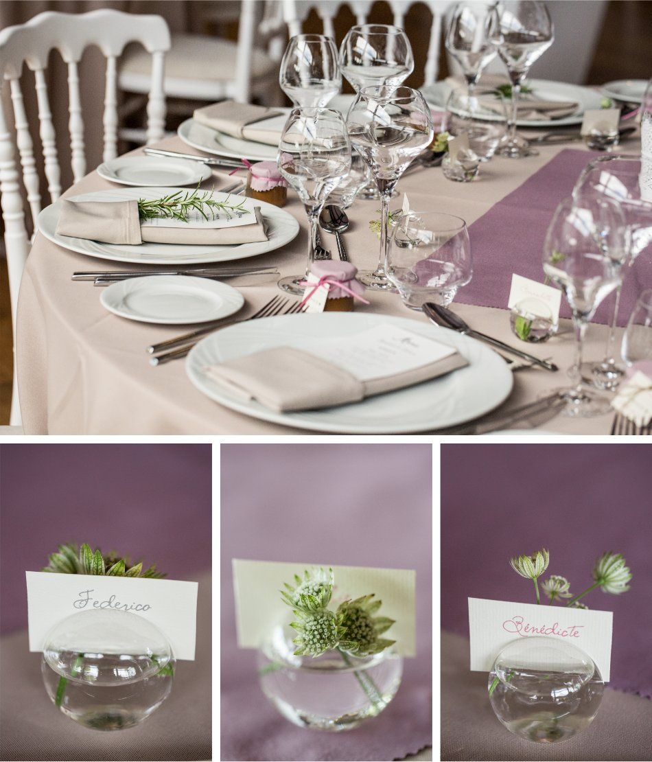 D co by f elicit photo raphael melka d co de table parme marque place solif - Deco table romantique ...