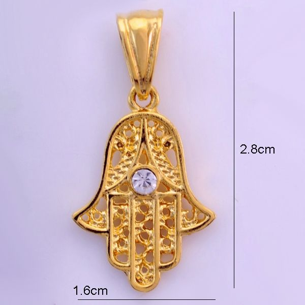 Wholesale hamsa hand pendant22k gold plated jewelry for female wholesale hamsa hand pendant22k gold plated jewelry for femalenazar hand of fatima mozeypictures Gallery