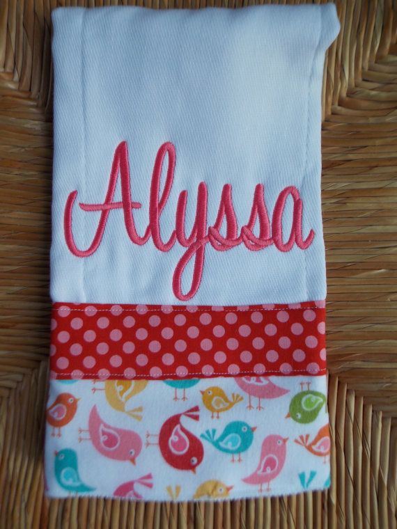 Personalized Baby Burp Cloth Https Www Etsy Com Listing 160573912
