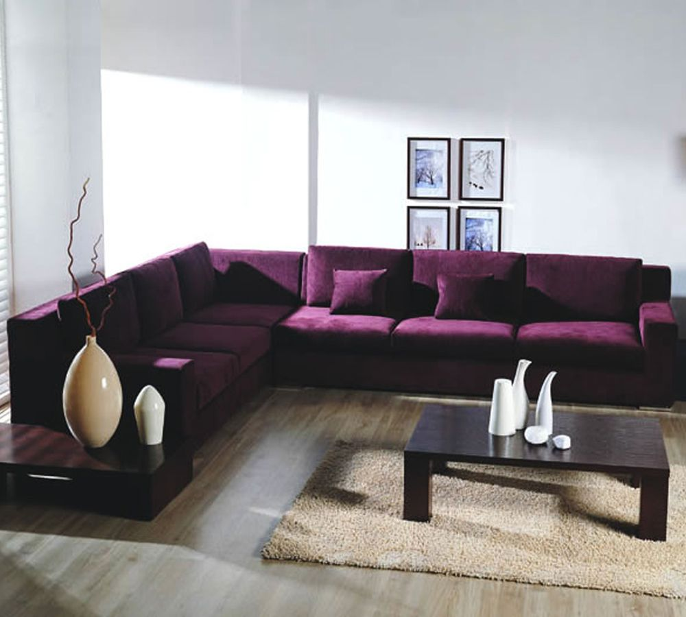 Purple Sectional Living Room Sofa Purple Furniture Home Decor