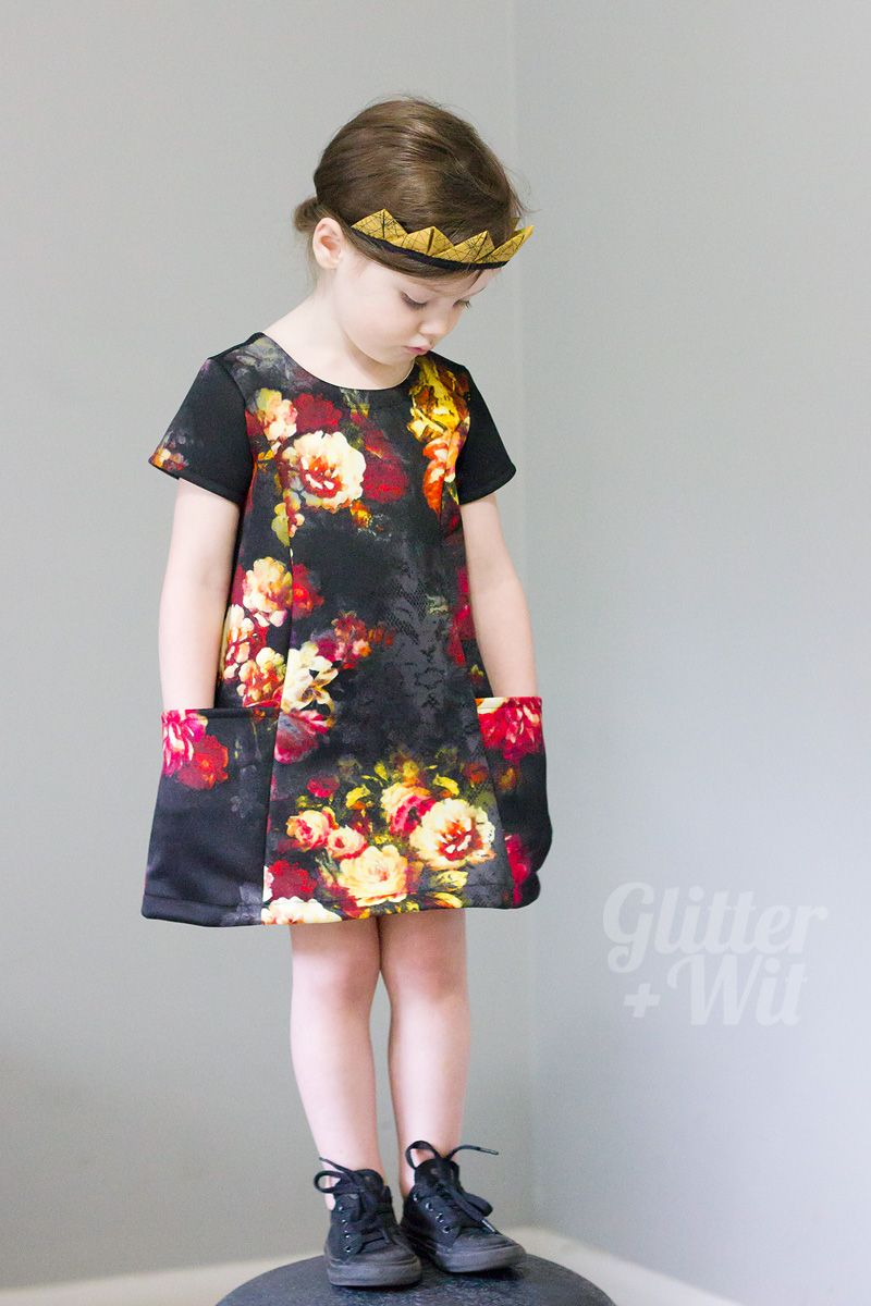 Straight Grain\'s newest pattern, The Ishi Dress, modified to ...