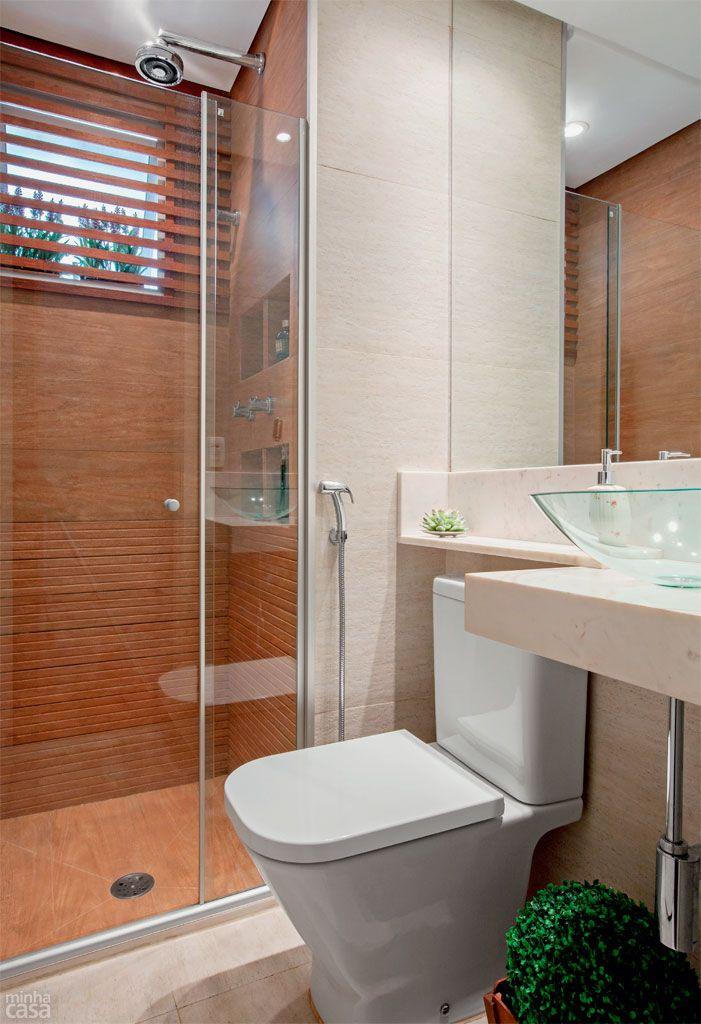 Ripas De Madeira E Porcelanato Repaginam Banheiro Com Imagens
