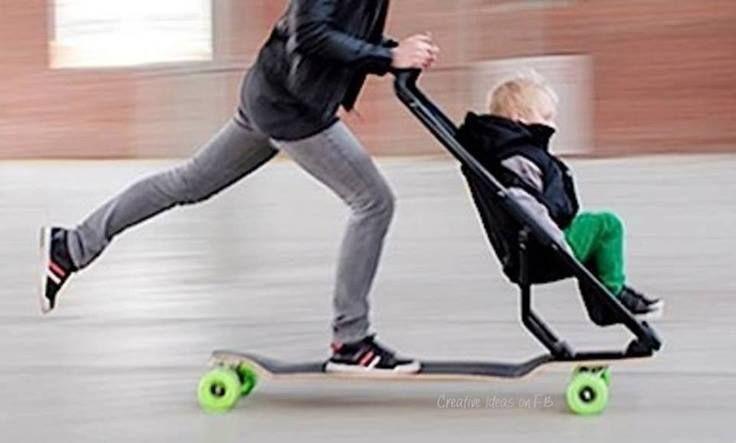 c3428f0ae325 Après la pousette... La pouss'skate! Je valide!! | Sk8 | Baby ...
