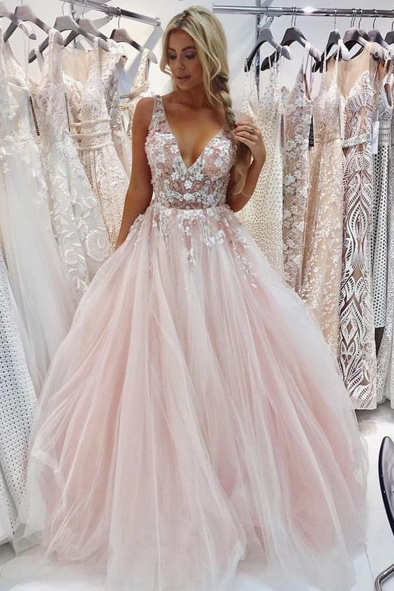 Gold Prom Dresses,Tulle Prom Gown,Long Prom Dress,Ball