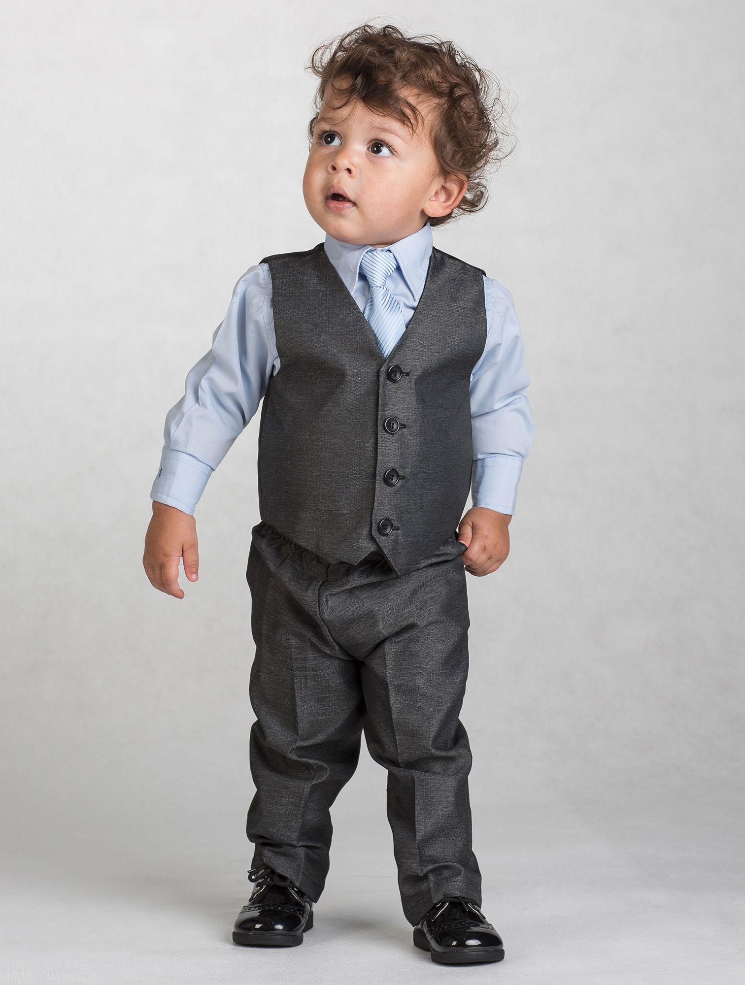 BOYS VEST WAISTCOAT WEDDING TUXEDO PAGEBOY COSTUME BLACK WHITE GREY BOW TIE SET