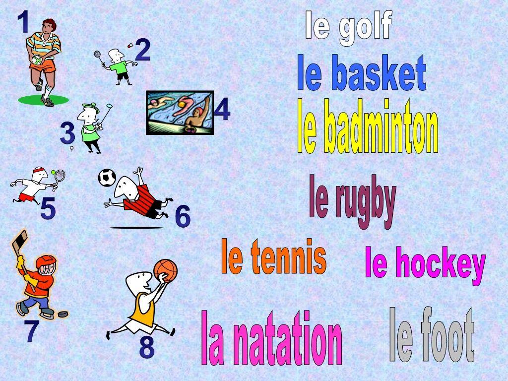 Sports Jouer Or Faire With Au And Du De La De L By