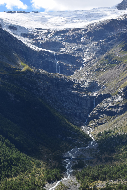 The Palü Glacier seen from Alp Grüm in Graubünden