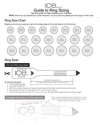 Ice Ring Sizer Printable Ring Size Chart Find Your Ring Size At