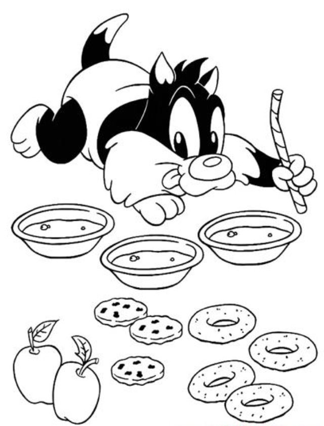 coloring : Looney Tunes Coloring Pages Best Of Baby Tunes 25 Friv ... | 841x640