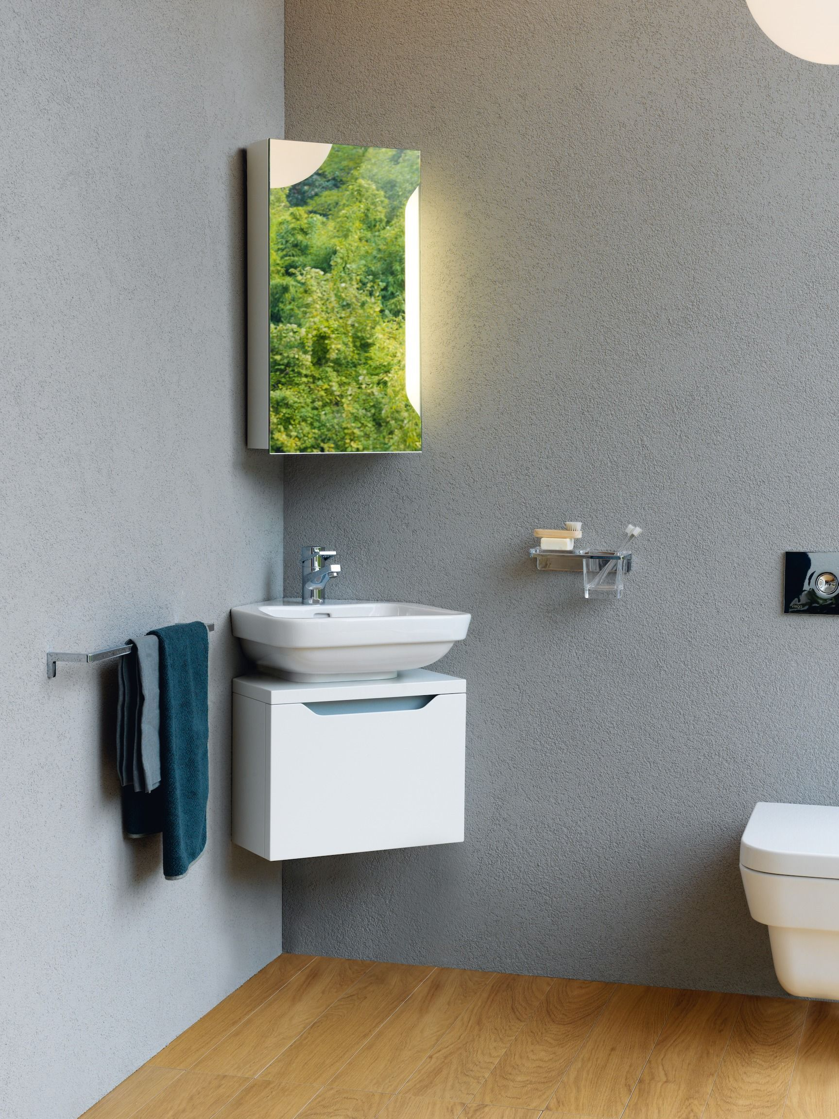 Waschbeckenunterschrank Mit Waschbecken Und Spiegel