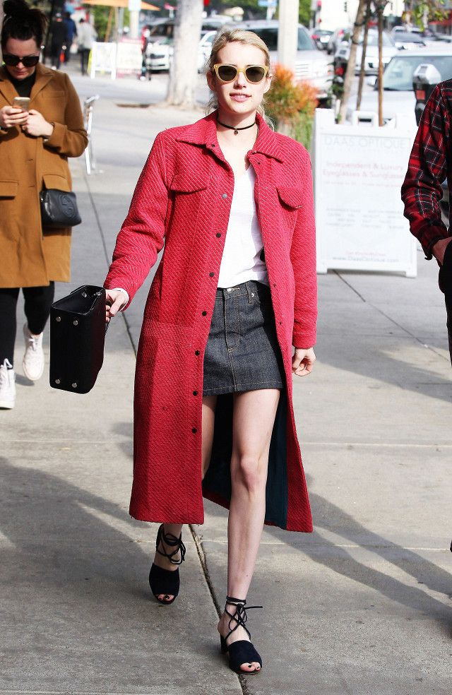 Emma Roberts Just Wore the Chicest Blue Suede Shoes | WhoWhatWear