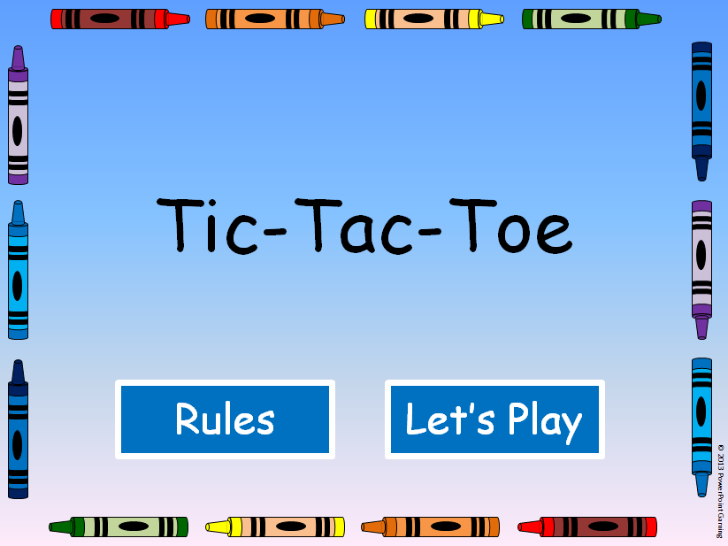 Editable TicTacToe Powerpoint Game Template  Tic Tac Toe
