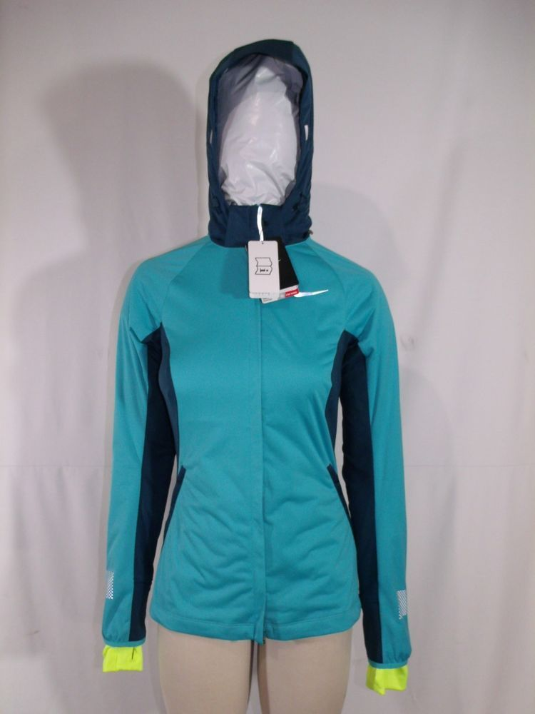 a97c4e05cb6d Nike Shield Max Running Jacket Womens Size S Small Aqua Green New ...