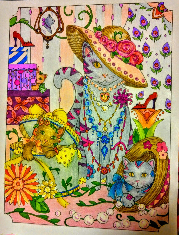 Joan bosotina colorist cat art pinterest cat coloring books