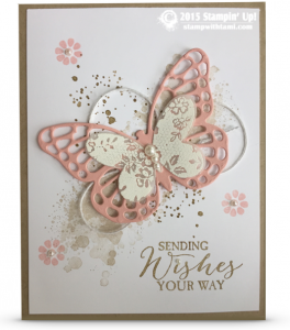 CARD: Sending Wishes Your Way Butterflies (Stamp With Tami)