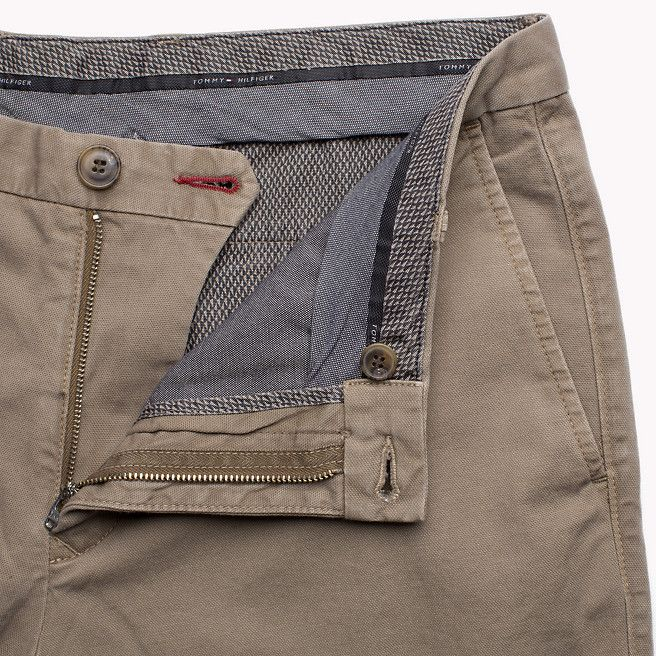 Tommy Hilfiger Hilfiger Straight Fit Chino - walnut-pt (Brown) - Tommy Hilfiger Trousers - detail image 3