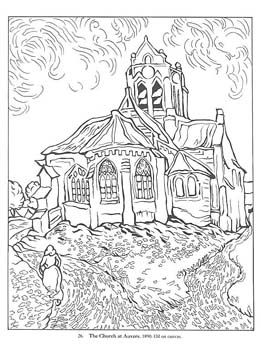 Kids Coloring Page Draw Famous Art