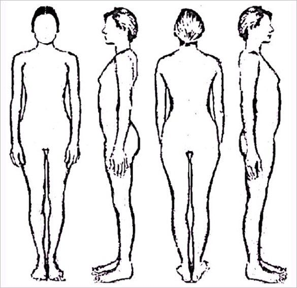 Image result for female body outline template   Body out lines ...
