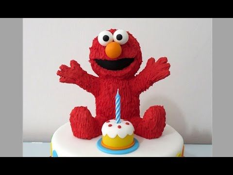 How To Make Elmo Cake Topper Como Hacer A Elmo Para
