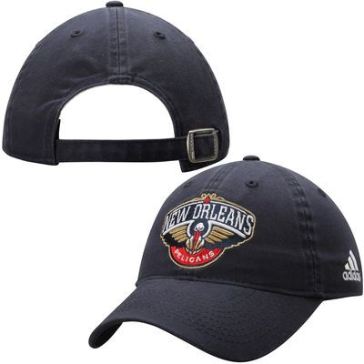 on sale b94cc d68dc Top off your game day outfit with this Women s New Orleans Pelicans adidas  Navy Blue Slouch Adjustable Hat