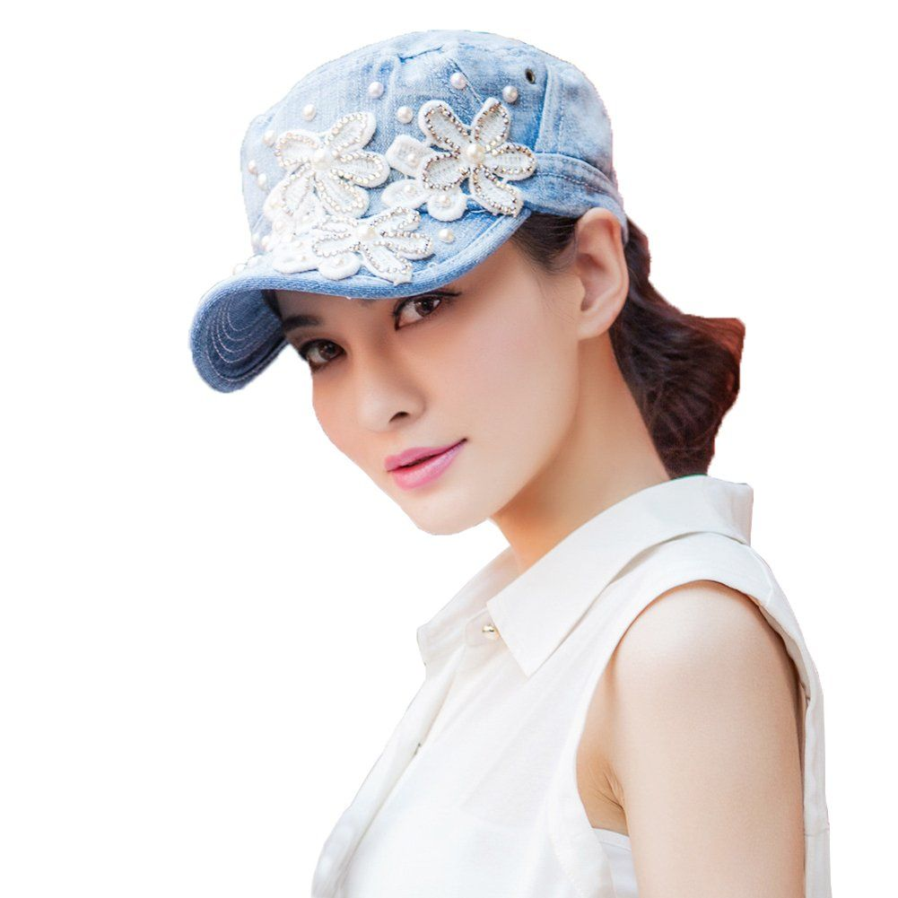 Yimidear Female UV Sun Hat Cowboy Hat Lady Summer Outdoor Sports Visor Cap  Women Baseball Cap a094192d3dea