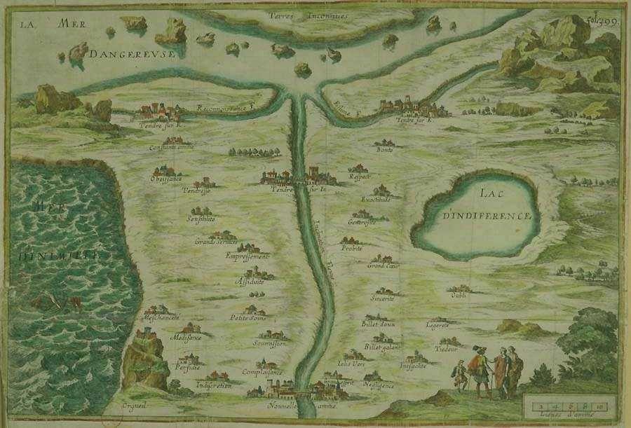 The Map Of Tendre Carte De Tendre Or Carte Du Tendre Was A