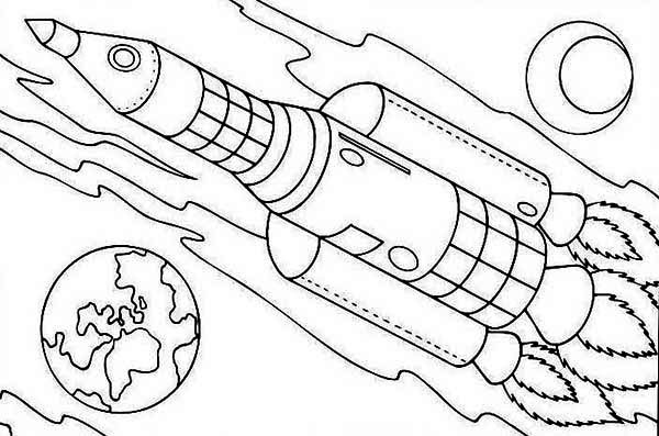 Rocket Ship On Earth Orbit Coloring Page Download Print Online Coloring Pages For Free Color Nimbus In 2020 Online Coloring Pages Coloring Pages Printable Rocket