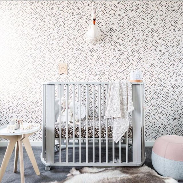 Impeccable style from @aimeestylist for @cnp_baby - how beautiful is this cot!? #mintymagazine #nurseryinspo #kidsroom