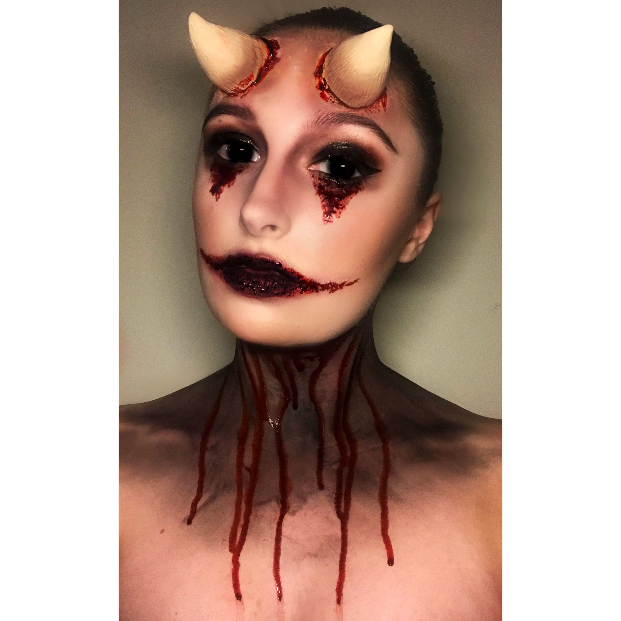 Halloween Makeup Devil.Sinner With Devil Horns Halloween Makeup Halloween Makeup Makeup