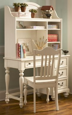 design of kitchen cabinet retreat student desk w hutch and chair set antiqued white 14648