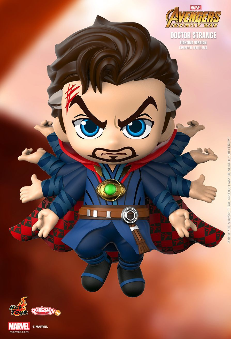 Marvel Avengers Infinity War Doctor Strange Figures Bobble Head Cosbaby Hottoys Action Figure Pvc Collection Model Toys Toys & Hobbies
