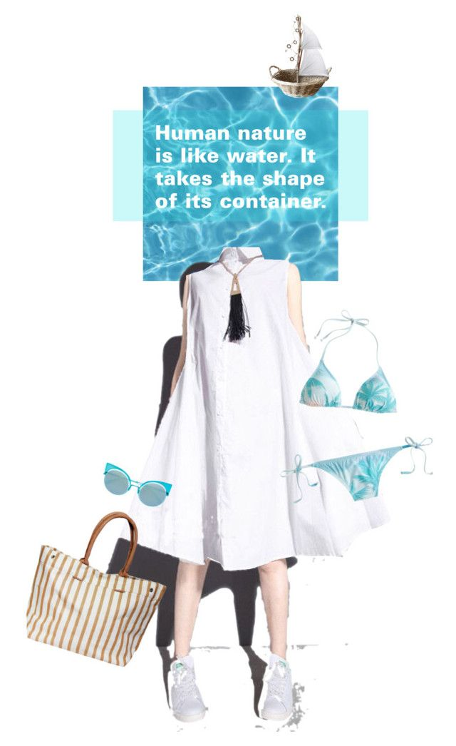 """""""love water"""" by ann4-kar1na ❤ liked on Polyvore featuring Fendi, J.Crew and shirtdress"""