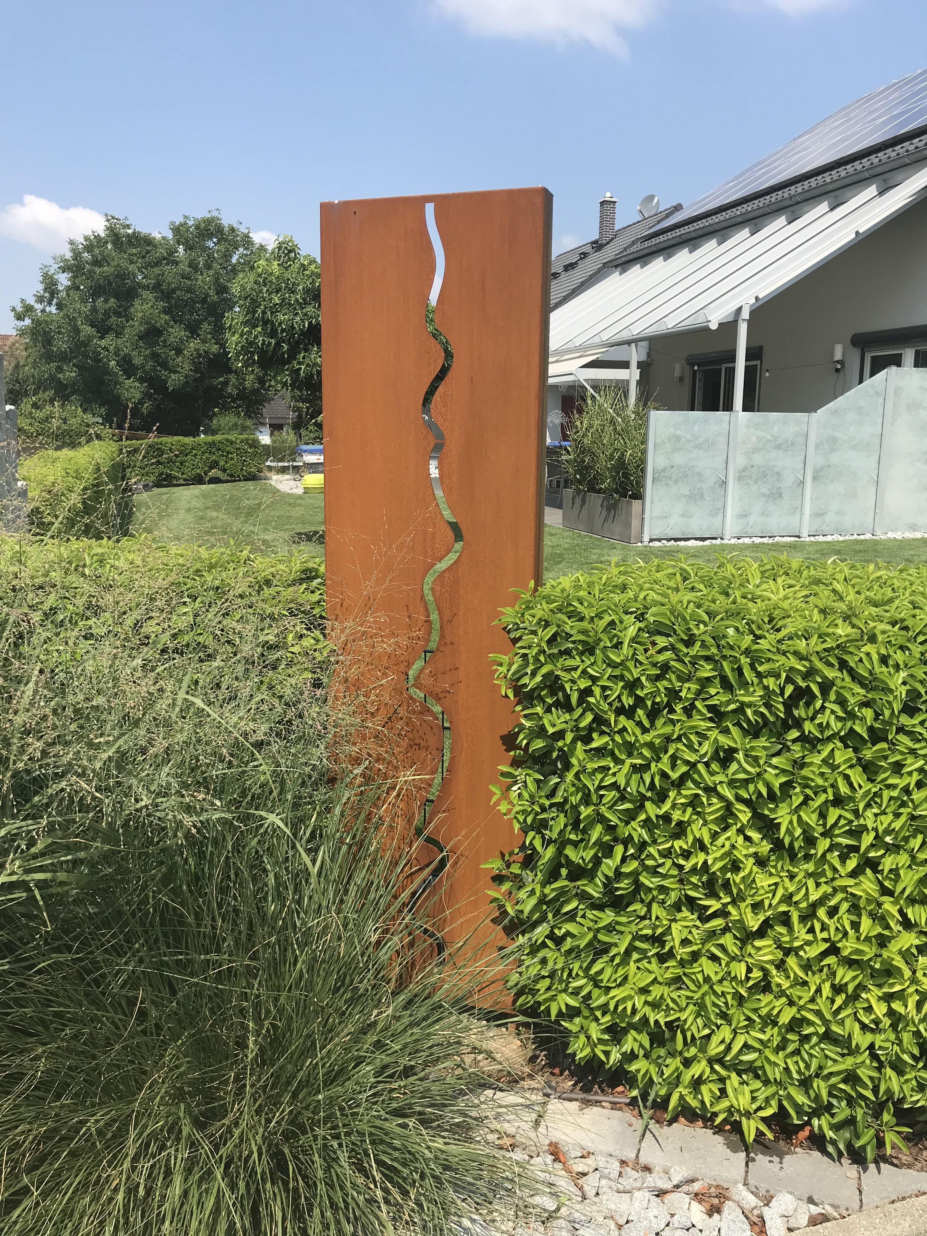 Sichtschutz Fur Den Garten Aus Corten Stahl Rost In Farbe Paras