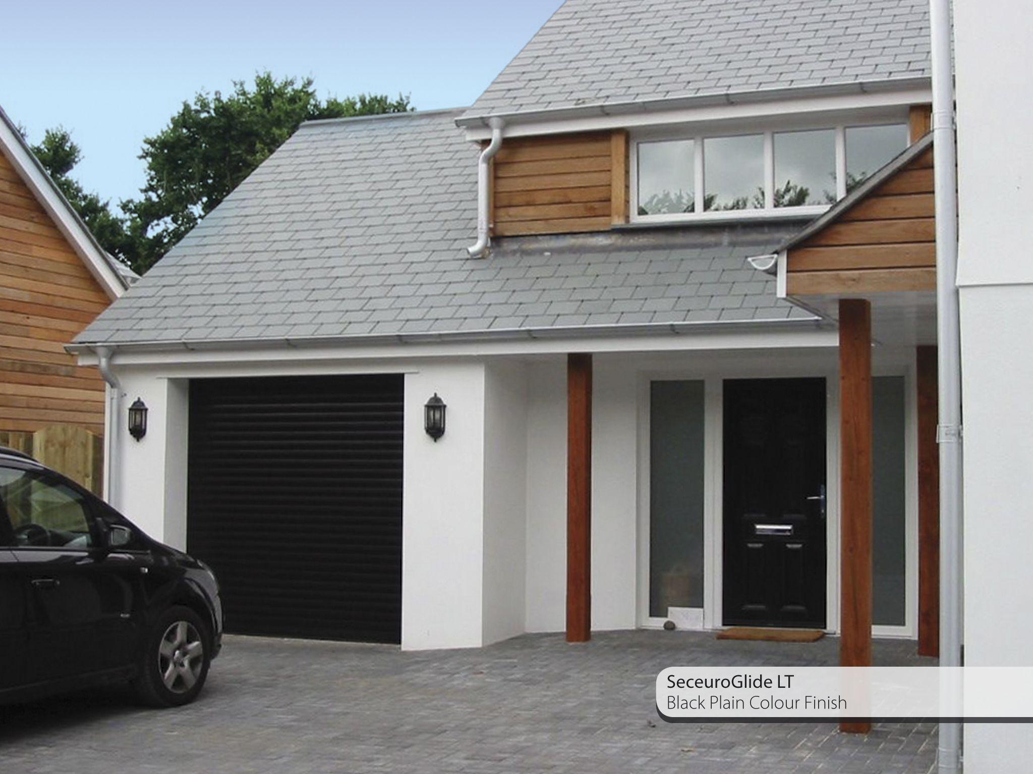 Grey house black garage doors - Roglide Lt Black Jpg 2 048 1 536 Pixels