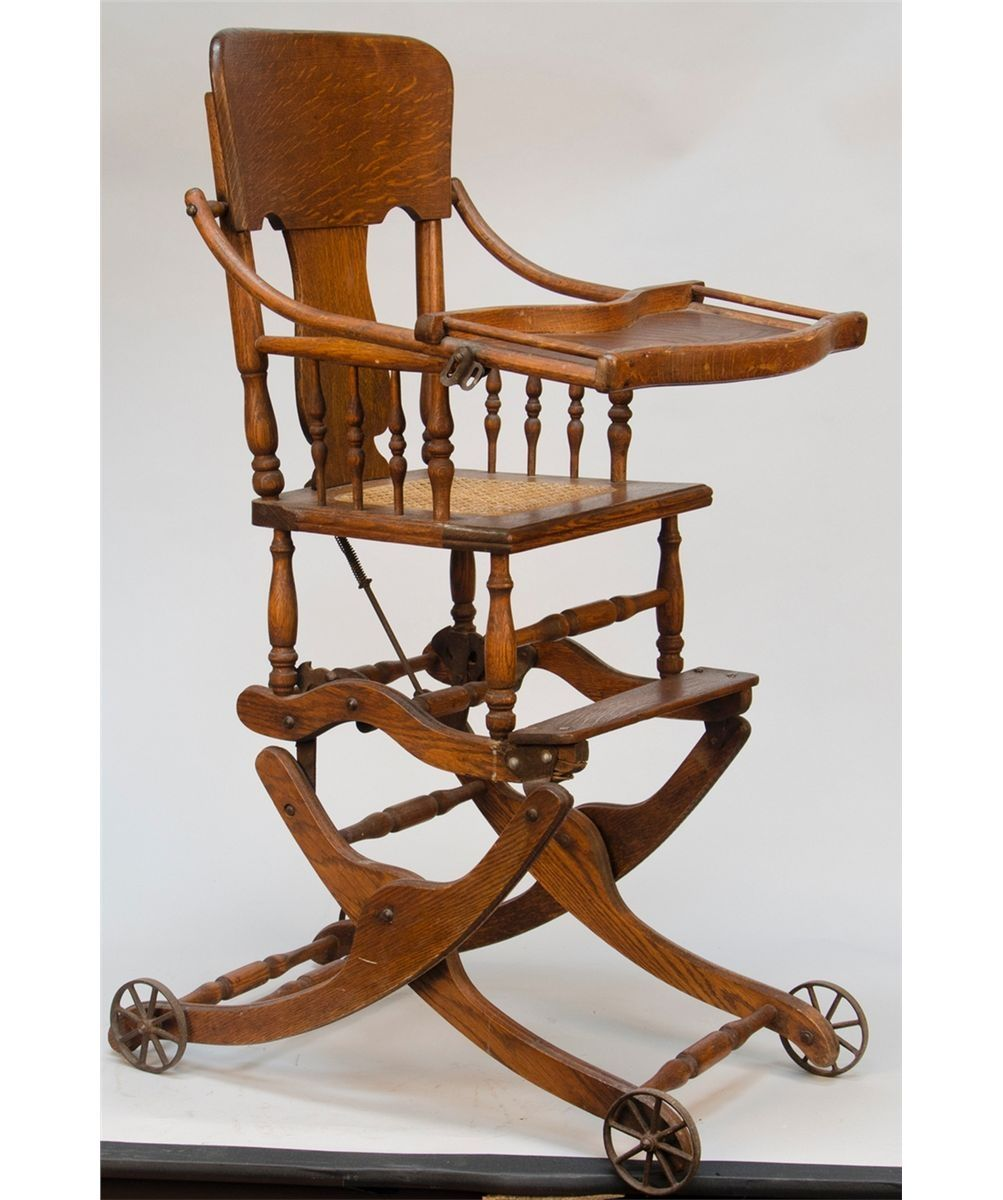 Antique Baby High Chair Converts Rocker - Antique Baby High Chair Converts Rocker Http://jeremyeatonart