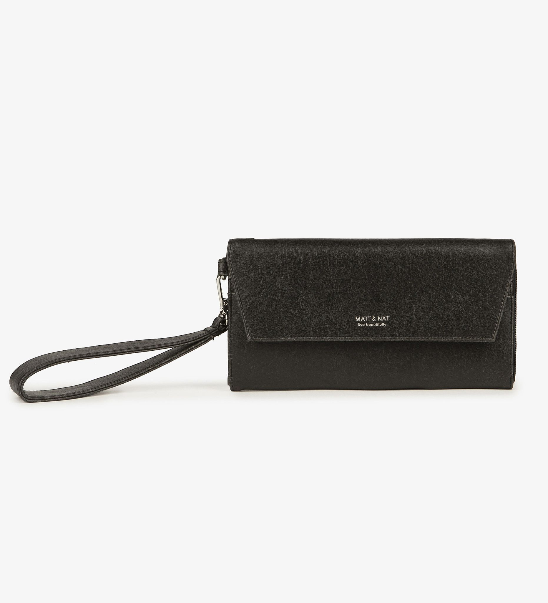 5ff29c4d6cb4 Matt and Nat Mercer Vintage Wristlet Wallet. Stylish Vegan Leather in Black.