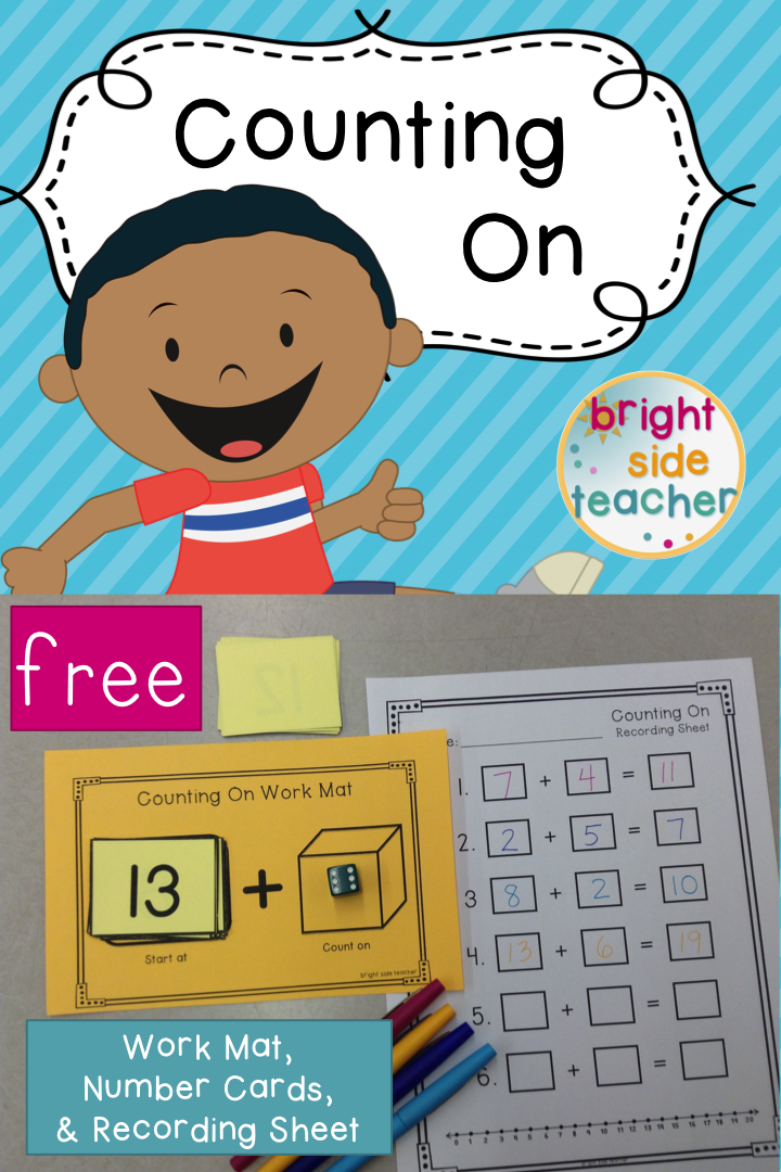 Free Counting On Work Mat, Number Cards, & Recording Sheet. Addition ...