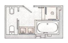 Un mini spa en 7 m2 ba os ba os cuarto de ba o y ba o - Bano con banera y ducha ...