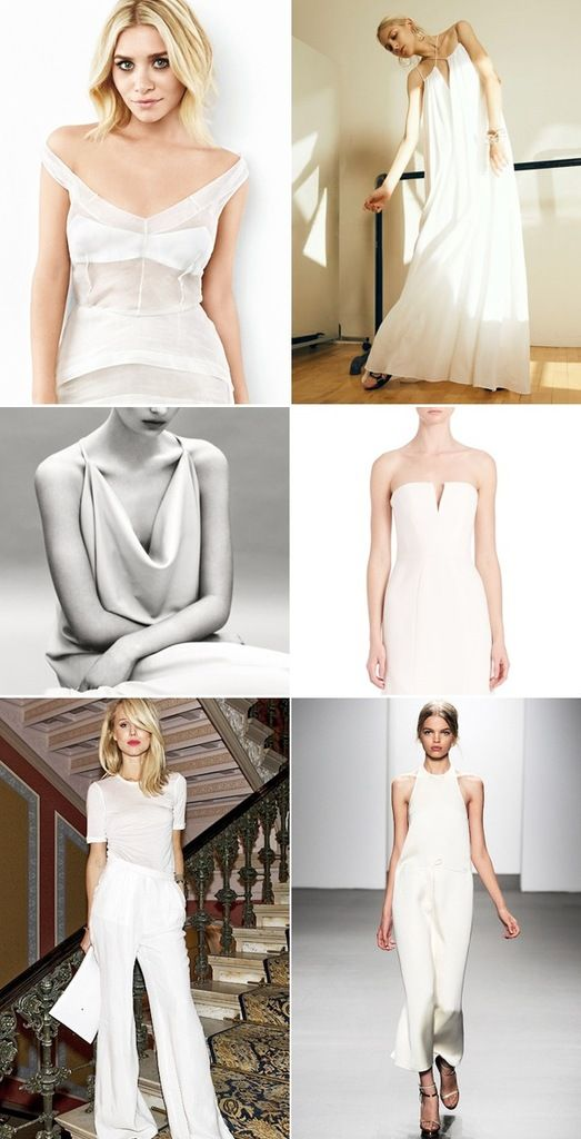 minimal wedding dress inspiration for the nontraditional bride ...