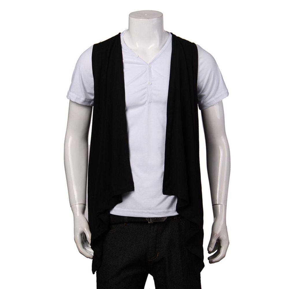 New Fashion Slim Fit Open Collar 2015 Winter Brand Vest Mens No ...