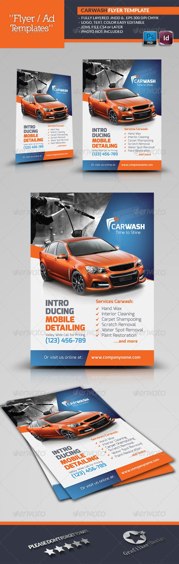 Car Wash Flyer Templates | Lavar, Lava y Lavado de auto