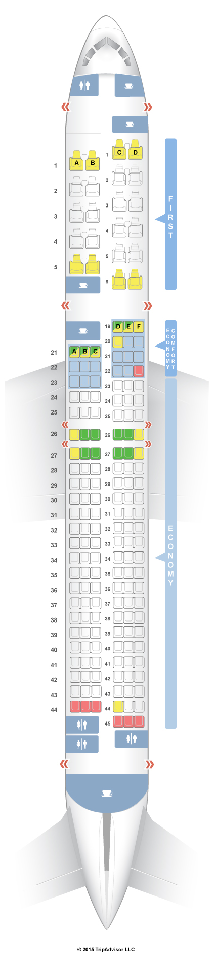 Seatguru Seat Map Delta Boeing 757 200 75v Hawaii Seatguru Seating Charts Boeing