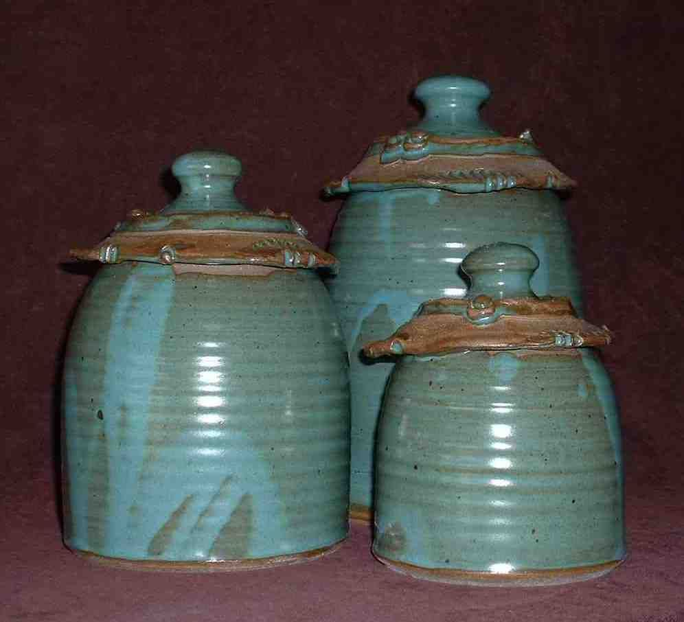 kitchen canister sets on anthony stoneware for the kitchen