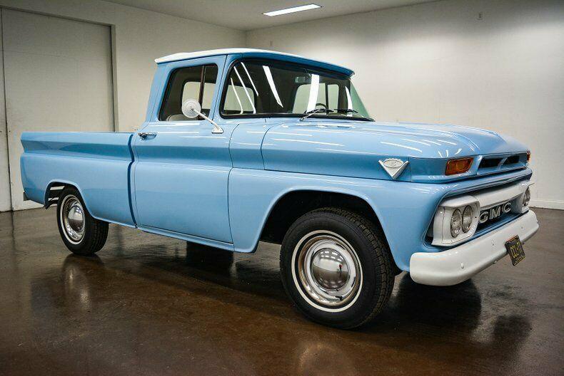 1963 Gmc C10 1963 Gmc C10 60003 Miles Baby Blue Pickup Truck 305 V6 3 Speed Manual Old Trucks For Sale Trucks For Sale Gmc