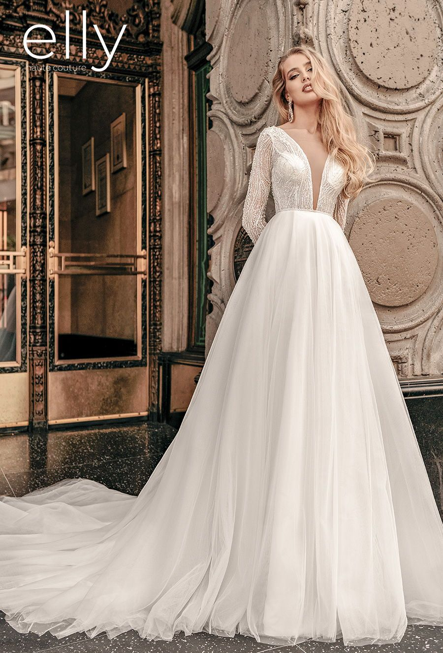 Elly Wedding Dresses Los Angeles Nyc White Mykonos Bridal Collections Wedding Inspirasi In 2020 Wedding Dresses Wedding Dresses Los Angeles Wedding Dress Long Sleeve