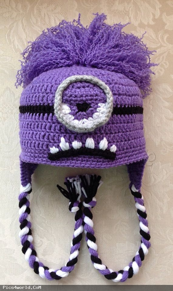 Crochet Evil Minion Hat | CROCHETED HAT PATTERNS | Pinterest ...