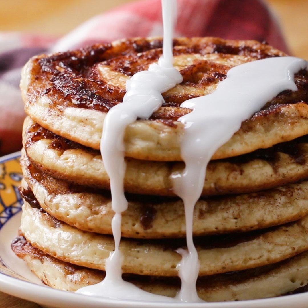 Cinnamon Roll Pancakes With Chloe Coscarelli Recip