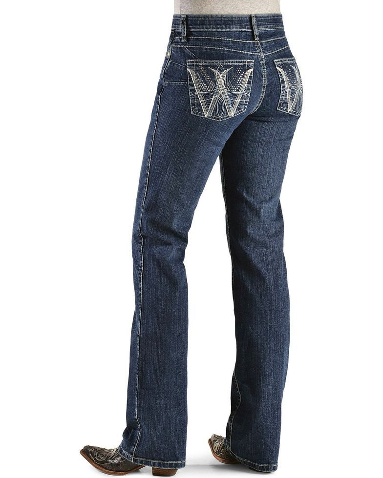 baedbe0d215 Wrangler Women s Cowgirl Cut Booty Up Ultimate Riding Q-Baby Jeans